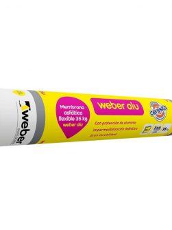 Weber Alu – Membrana Asfáltica Aluminizada de 35kg