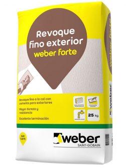 Weber Forte x 25 kg – Revoque Fino Exterior