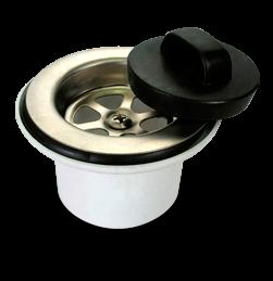 Sopapa Plástica con Rejilla de Acero Inoxidable Sin Rosca